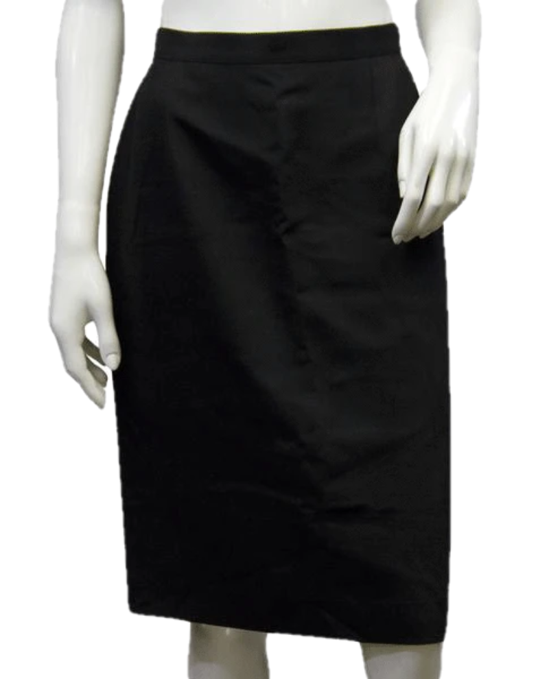 Giorgio Armani 70's Pencil Skirt Black Size 46/12 SKU 000009