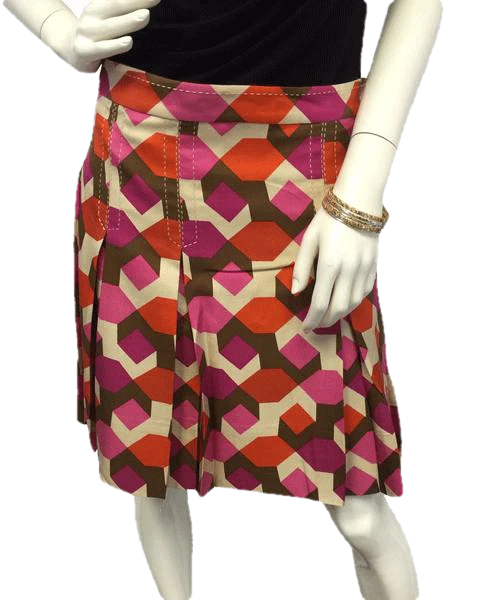 Marc by Marc Jacobs Box Pleated Multi Color Skirt Size 8 SKU 000057