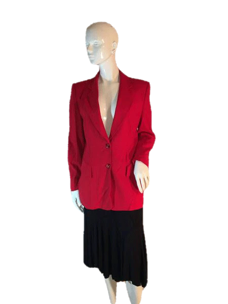 Escada Long Sleeve Stunning Red Blazer Size 38 SKU 000206