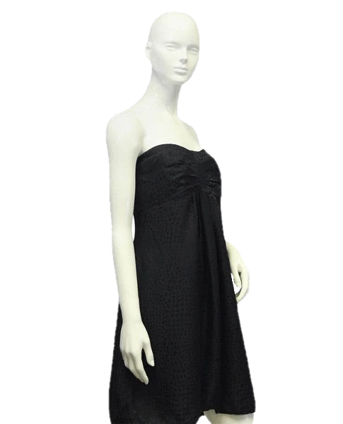 White House Black Market Black Strapless Dress Size 12 SKU 000064