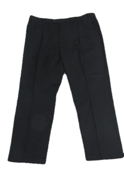 Roundtree Yorke Men's Classic Black Dress Pants SKU 000159