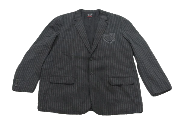 MENS Black Ink Gray Jacket with white pin stripes Size XXL (SKU 000165)