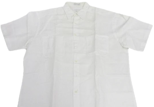 MENS Claiborne White Short Sleeve Button Down Shirt Size L SKU 000160