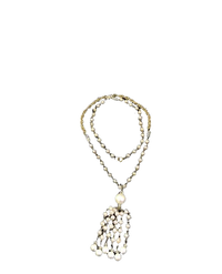 "Vintage Necklace Pearls and Gold Chain 28"" long  (SKU 000083)"