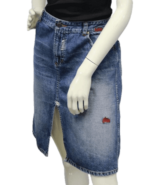 Armani 80's Rocker Girl Skirt Denim Size 8 SKU 000002