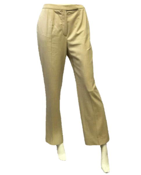Escada 70's Pants Light Weight Wool Tan Size 38 SKU 000048