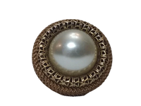 Lenora Dame Ring Gold with Pearl Adjustable (SKU 000163-7)