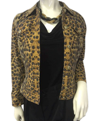 NO SKU Escada Animal Print Jacket Size 36