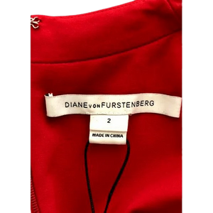 Diane Von Furstenberg Red Dress Size 2 SKU 001000-3