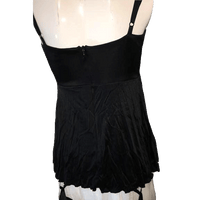 Bebe Black Tank top with Spaghetti Straps with Silver Stud Design on Waist Size XS SKU 000168