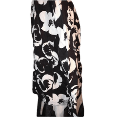 Albert Nipon Suits White and Black Flowered Blazer Size XL(SKU 000168)