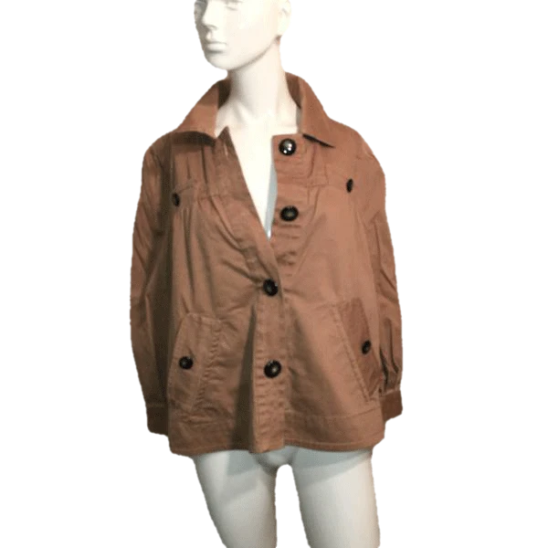 Marc by Marc Jacobs Brown Jacket with Large Buttons Size 10  (SKU 000170)