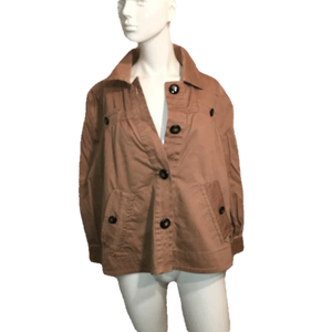Marc by Marc Jacobs Brown Jacket with Large Buttons Size 10 SKU 000170