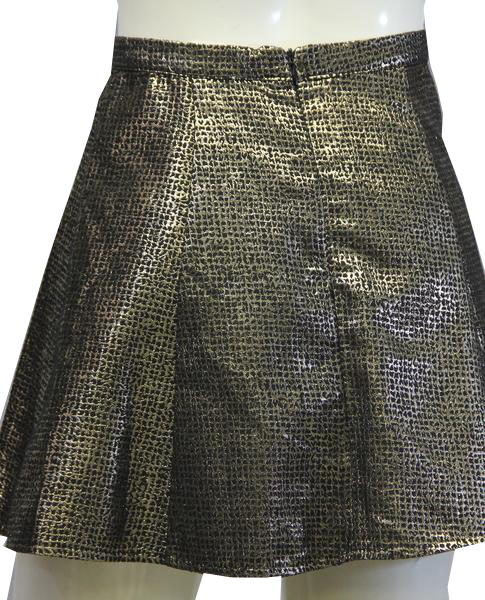 One Clothing 90's Skirt Gold Metallic Size S SKU 000026