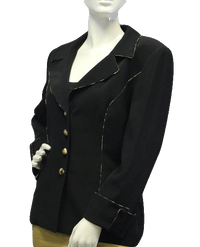 Ecaille Paris Black Blazer Sz 44 (SKU 000029)