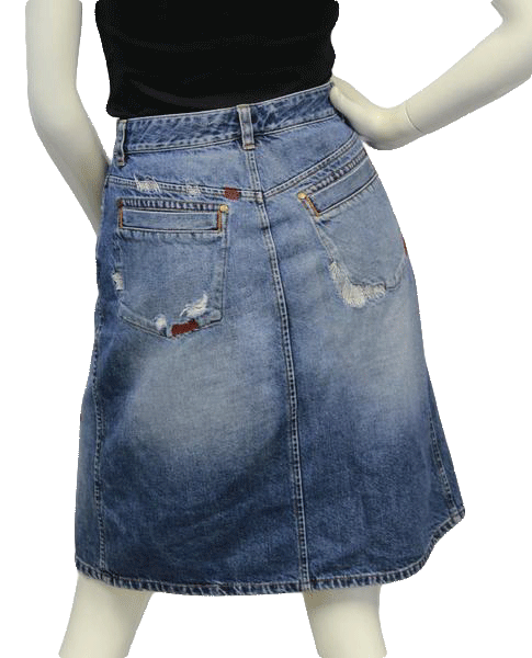 SKIRT Armani Rocker Girl Denim Skirt Size 8 (SKU 000002)