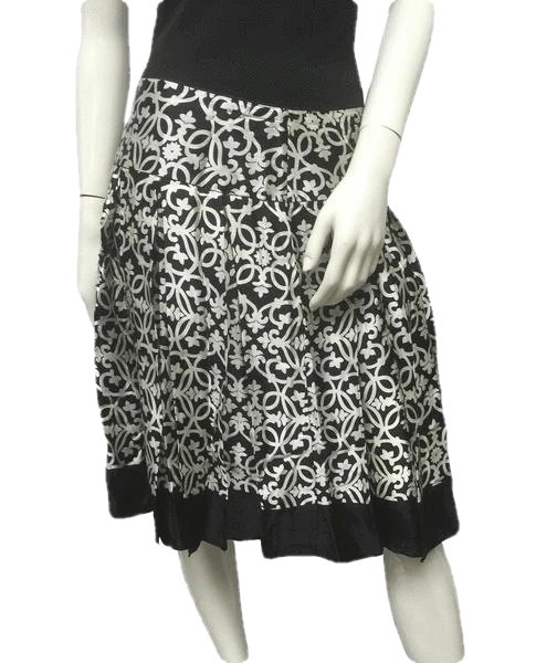 White House Black Market Swirl In Skirt Sz 8 SKU 000054