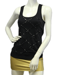 NO SKU Be Jeweled Racerback Sequins Tank Top Size XS