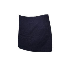 SKIRT Dark Denim Mini Skirt with Attached Shorts Size 14 (SKU 000144)