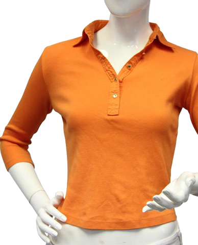Ralph Lauren Orange 3/4 Sleeve Polo Size PS (SKU 000020)