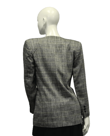 Stirling and Cooper Glen Plaid Professional Blazer Size 2 (SKU 000001)