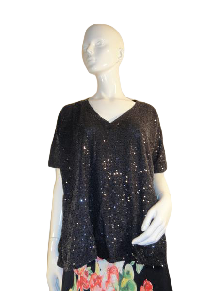 DKNY Sequin Top Black P/S (SKU 000188-6)