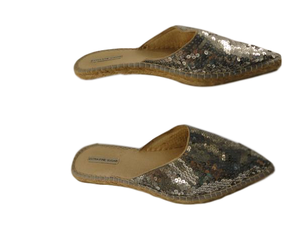 Extra-Fine Sugar Slides with Silver Sequins 9 (SKU 000192-3)