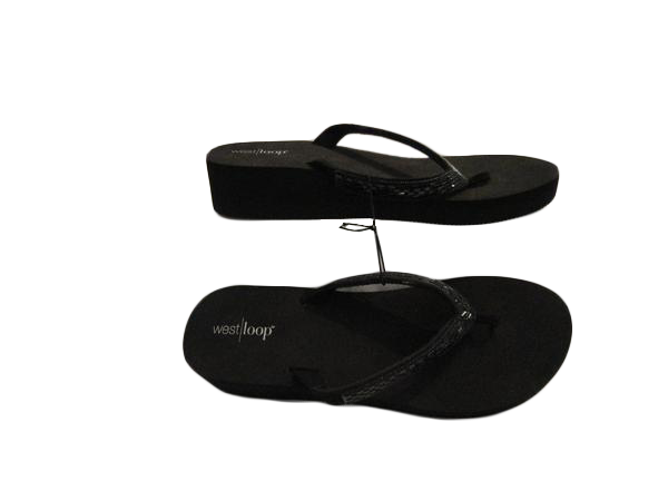 West/loop Wedge Flip Flops Black size L (SKU 000060)