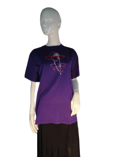 Gildan T-Shirt Purple Size M SKU 000187-2