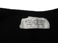 St John Sportswear Black Knit Top Size M (SKU 000167)