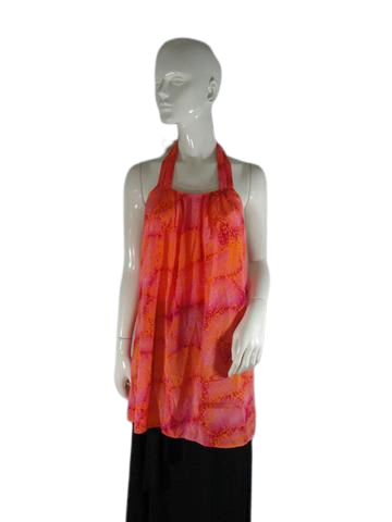 Ann Taylor Top Orange & Hot Pink Size 18 SKU 000195-18