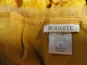 Rodarte 60's 2 pc. Skirt/Top Set Mustard Yellow Size 1 SKU 000041