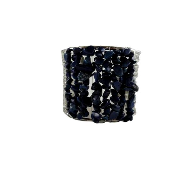 Bracelet Cuff Silver with Embellishments (SKU 000242-18)