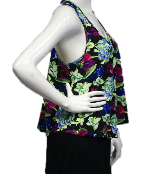 Flashy Floral Racerback Tank Size Medium (SKU 000025)