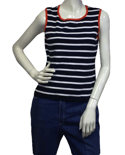 Yarn & Stitches 90's Top Navy & White Stripes Size M SKU 000024