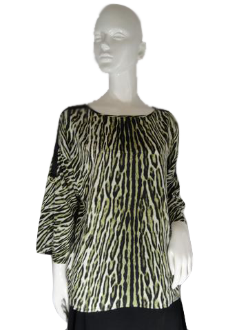 Michael Kors Blouse Animal Print Size L SKU 000234-9