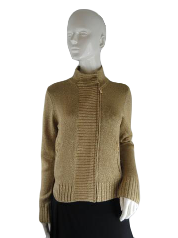 Michael Kors Sweater Metallic Gold Size M (no tag) (SKU 000234-10)