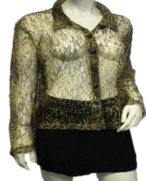 Betsy's Things Top Gold Mesh Size M (SKU 000011)