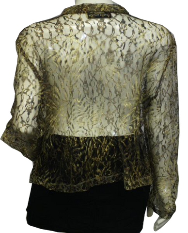Gold Mesh See-Through Top Size M (SKU 000