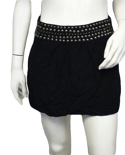 Valley Girl Mini Skirt Black Size 8 SKU 000026