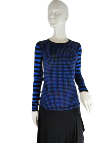Michael Kors Top Black and Blue Size S SKU 000234-15