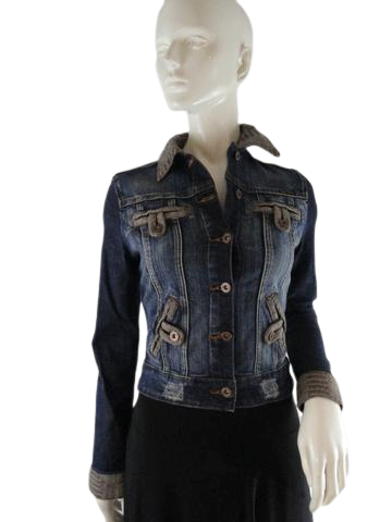 Apple Bottoms Blue Jean Jacket Size S/P SKU 000109