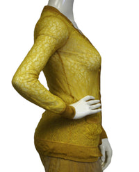 Rodarte Mustard Yellow 2 pc. Dress Set Size 1 (SKU 000093) - Designers On A Dime - 2