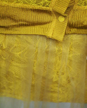 Rodarte Mustard Yellow 2 pc. Dress Set Size 1 (SKU 000093) - Designers On A Dime - 3