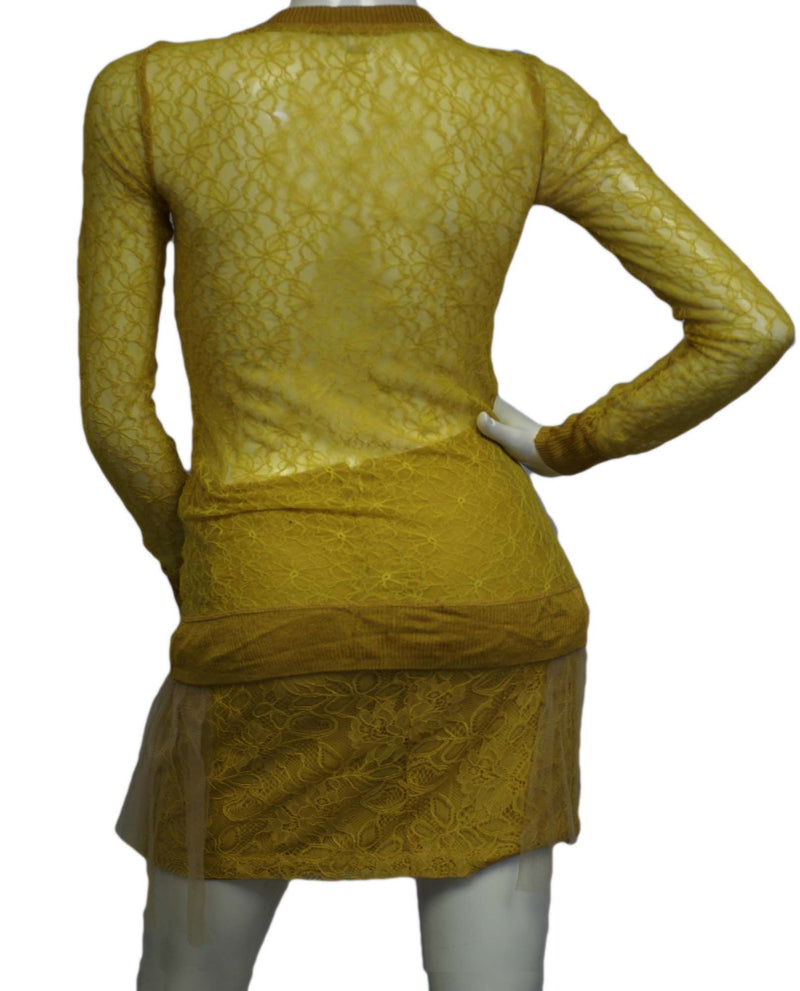 Rodarte Mustard Yellow 2 pc. Dress Set Size 1 (SKU 000093) - Designers On A Dime - 4