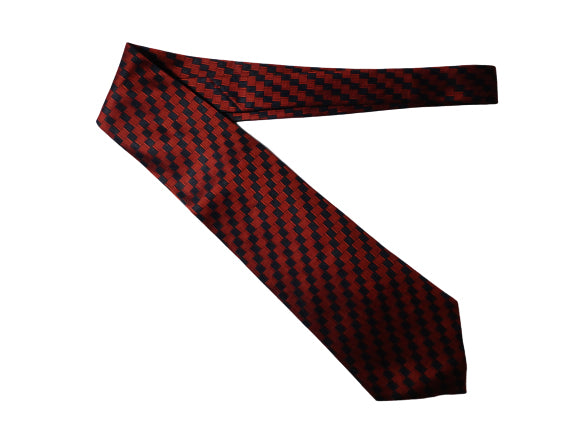 Men's Perry Ellis Collection Tie Dark Red and Navy Blue SKU 000284-4 Bg1