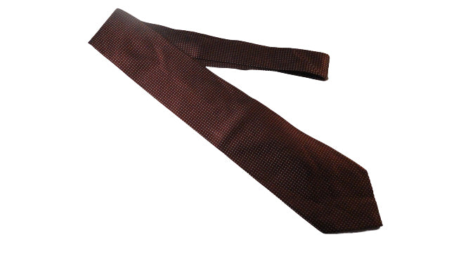 Men's Calvin Klein Tie Maroon with Silver Dots SKU 000284-8 Bg1
