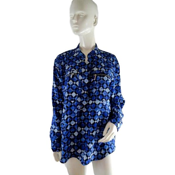 Michael Kors Top Blue and White Size L SKU 000235-3