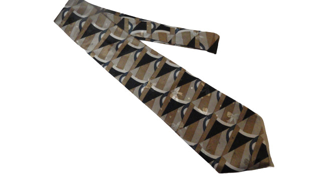 Men's Dino Romaro Tie Navy, Bronze, Grey, White SKU 000284-9 Bg1