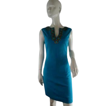 Trina Turk Dress Turquoise Size 2 SKU 000238-1